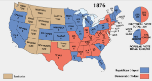 1876 election--final Electoral College allocation