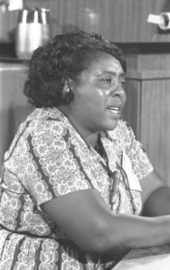 MFDP leader Fannie Lou Hamer, at the 1964 Democratic convention