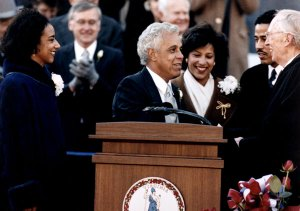 Virginia's Douglas Wilder, first African-American elected governor (1989)