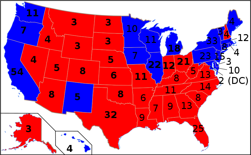 2000 presidential election map. Note that if Al Gore had carried his ...